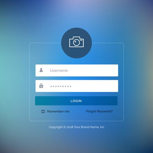 Web application login page template