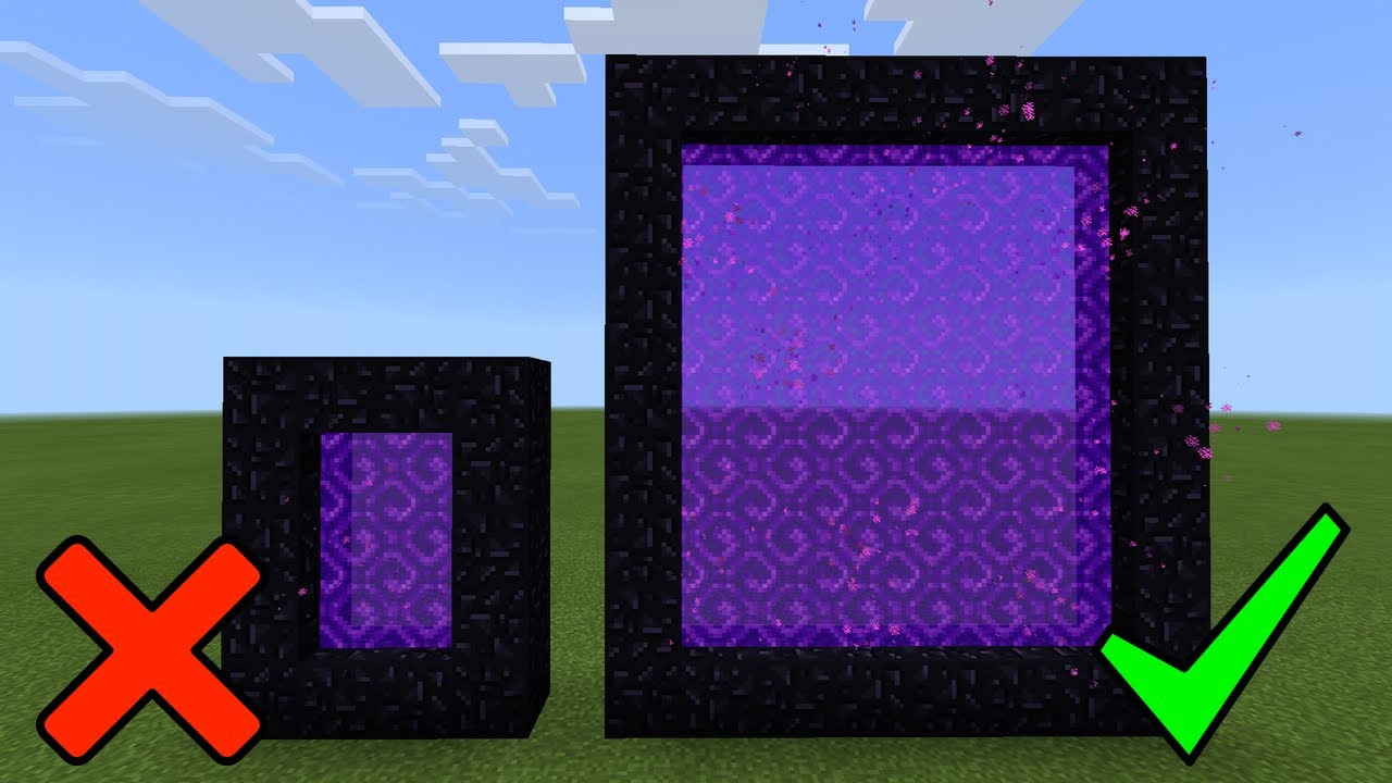 Minecraft how to make the nether portal