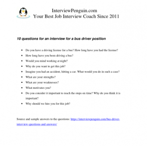 Common job interview questions and sample answers pdf