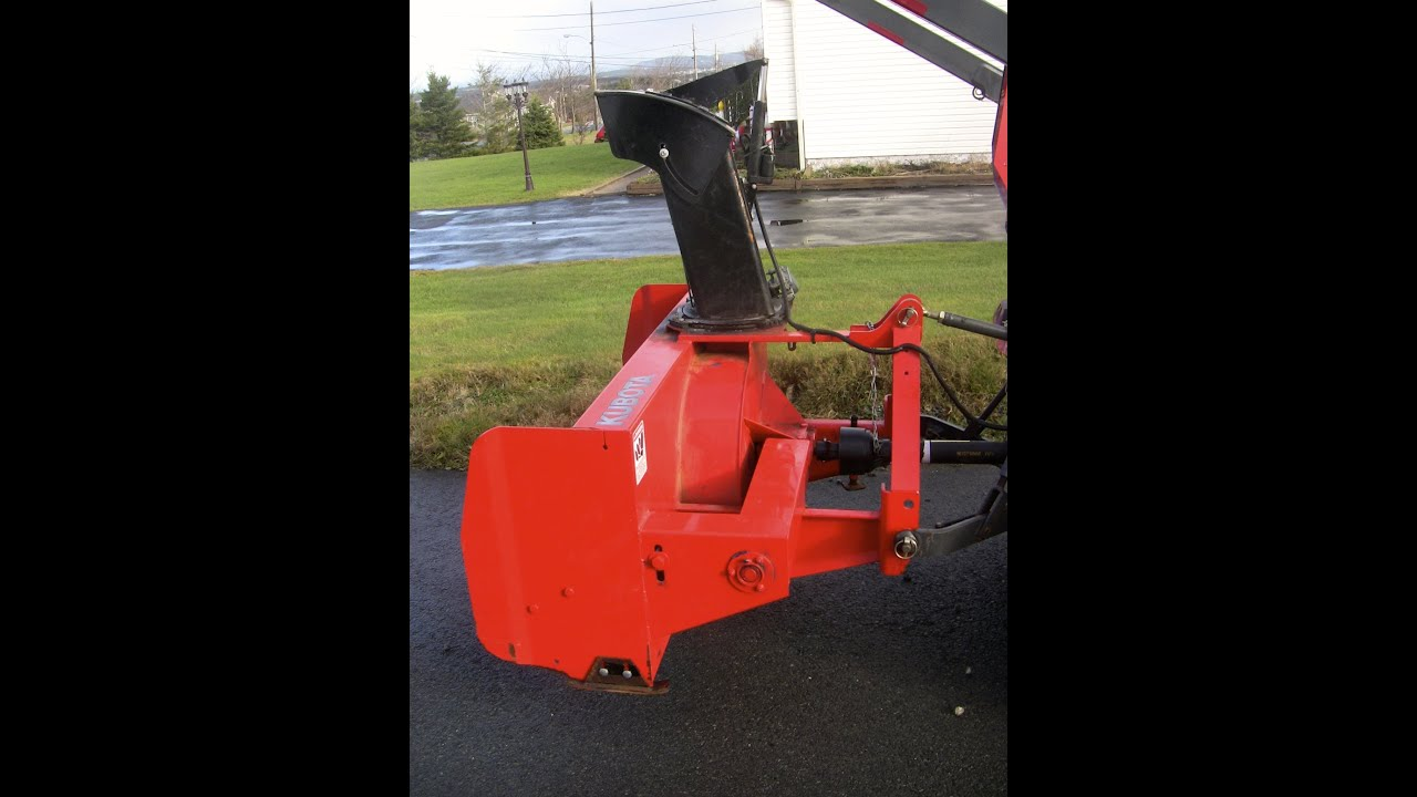 kubota b2782 front snowthrower attachment instructions