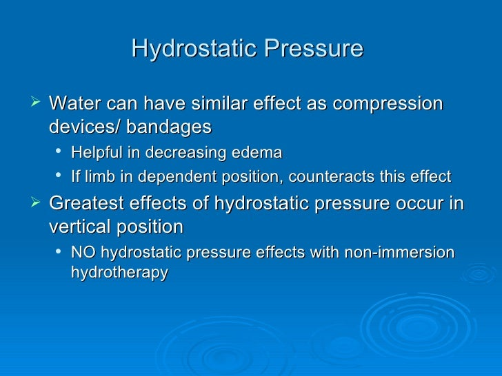 Physiological effects of hydrotherapy pdf